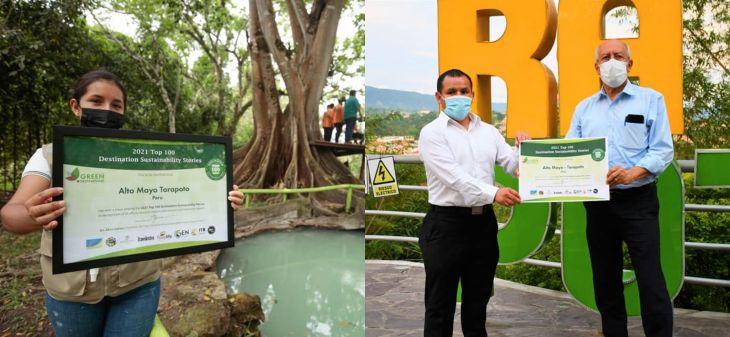 Destinos Alto Mayo y Tarapoto reciben diploma que lo ubica en los principales destinos sostenibles del mundo