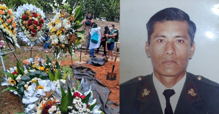 Ayer domingo fue sepultado el Policía en situación de retiro Eycer Solano Valles