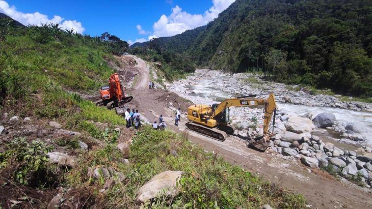 Goresam inició trabajos de rehabilitación en la carretera Metal – Marcos, que une a San Martín con la Sierra de la Libertad