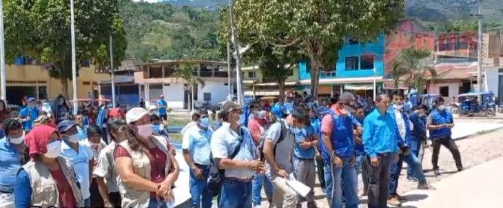 Ronderos de Shamboyacu protestaron contra el alcalde de ese distrito exigiendo terreno para su local comunal