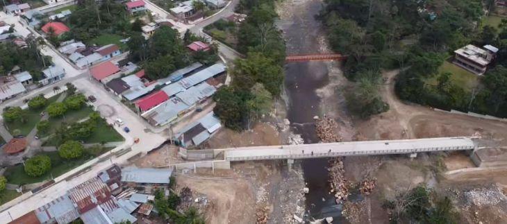 Esta semana empresa constructora entregará el puente vehicular sobre el río Cumbaza que unirá a San Antonio con Tarapoto